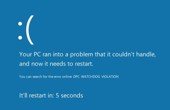 dpc watchdog violation error windows 10
