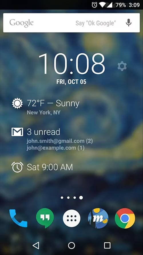 Dash Clock Widget