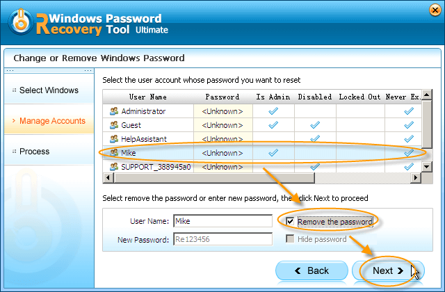 Windows Password Recovery Tool Ultimate